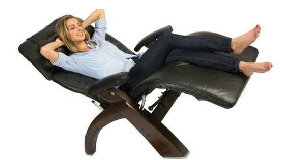 black leather gravity office chair