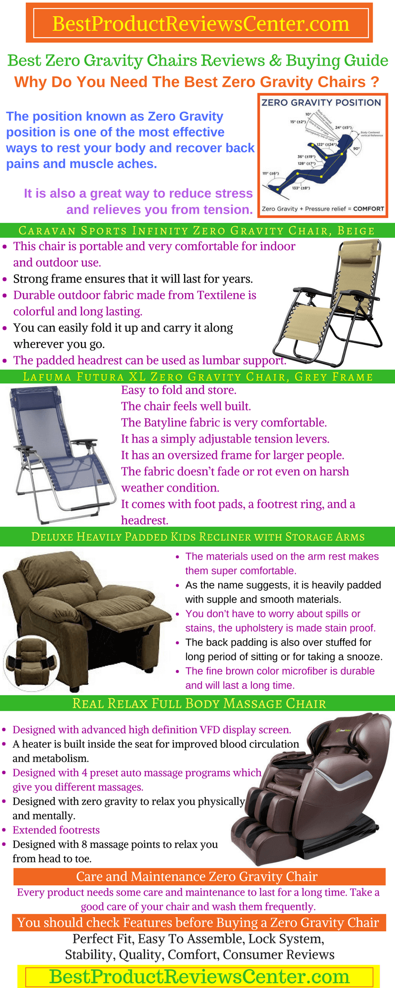 Things To Consider Before Buying The Best Zero Gravity Chair